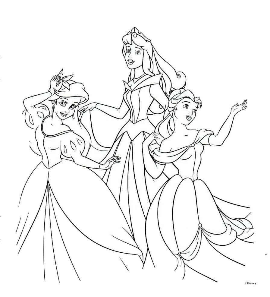 Immagini Principesse Da Colorare.Principesse Disney Da Colorare