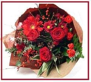 Bouquet sposa Natale classico