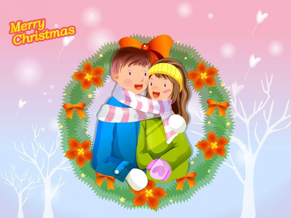 Frasi d'amore cartolina romantica per Natale