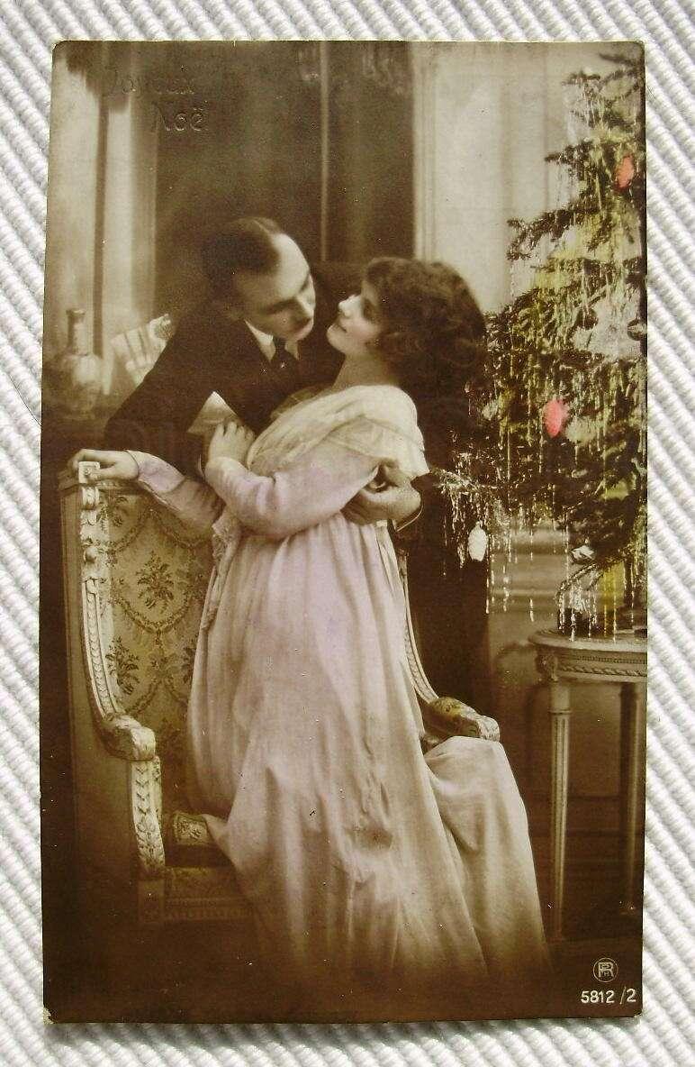 Frasi d'amore cartolina vintage per Natale