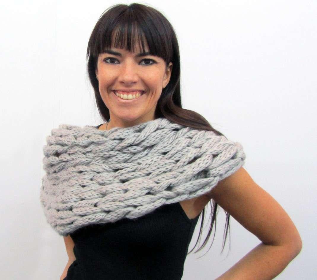 Poncho sciarpa