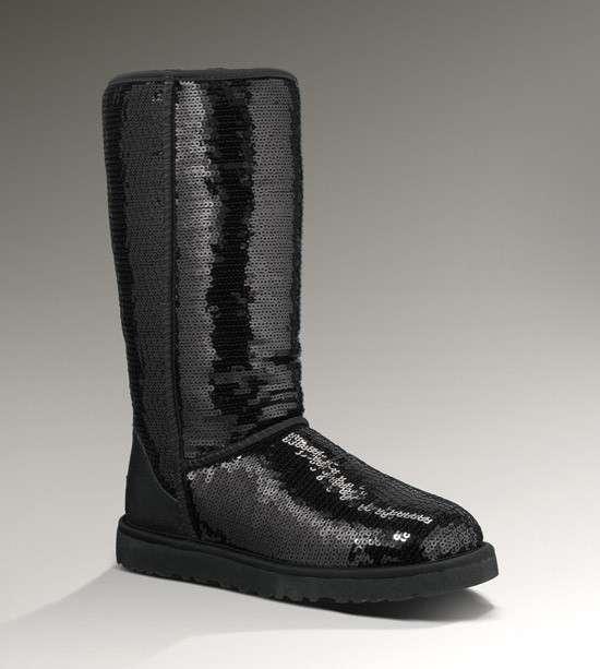Stivali Ugg, modello alto con paillettes