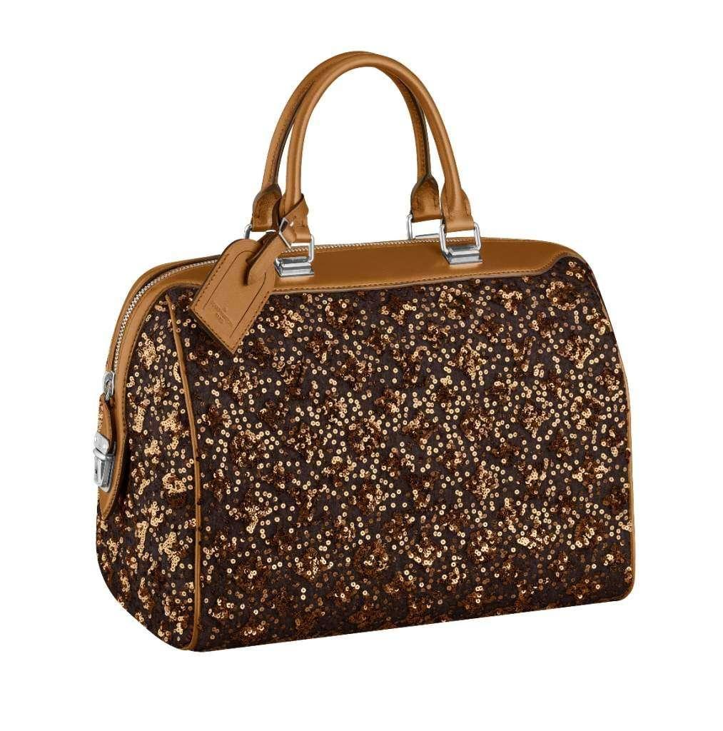 Louis Vuitton, borsa a bauletto glitterata