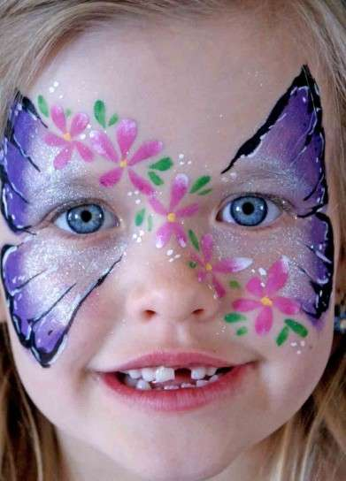 Make up per bambini da farfalla
