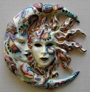 Maschera sole e luna