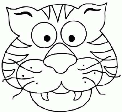 Mascherina da tigre