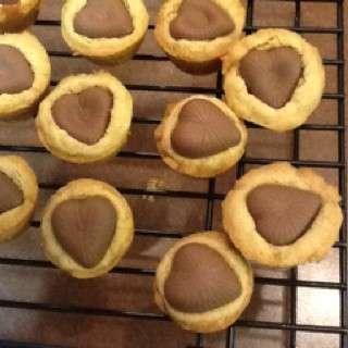 Mini muffin con cuore di cioccolato