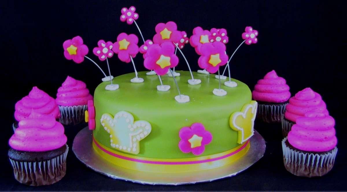 Torta con cupcakes