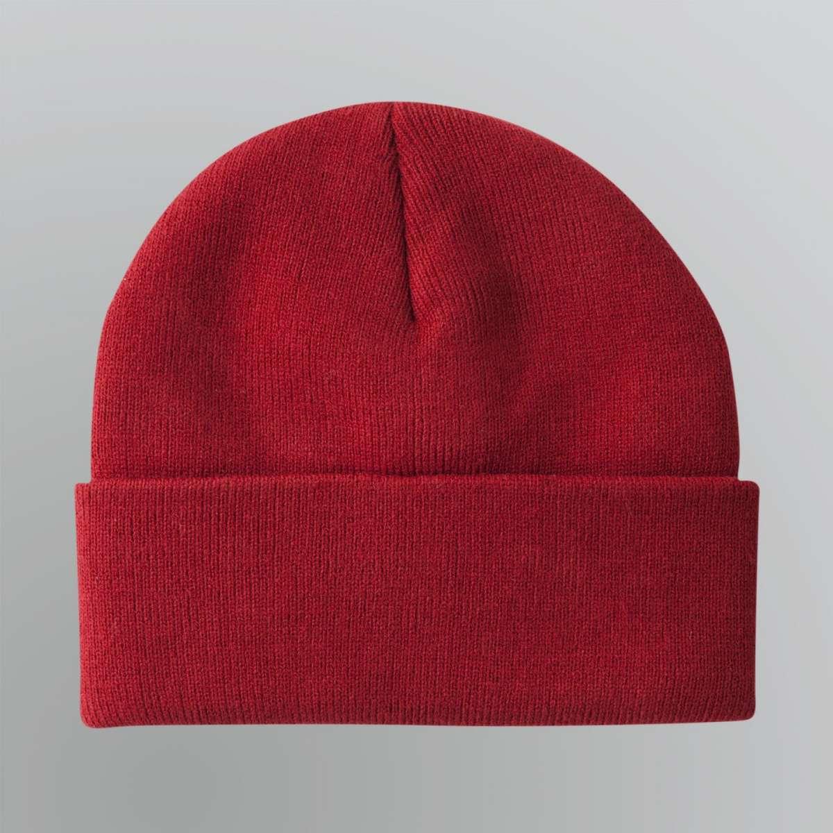 Cappello rosso con risvolto