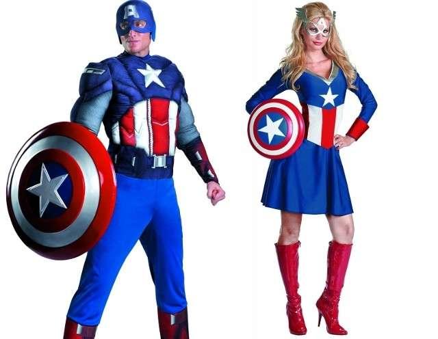 Costume di coppia Capitan America