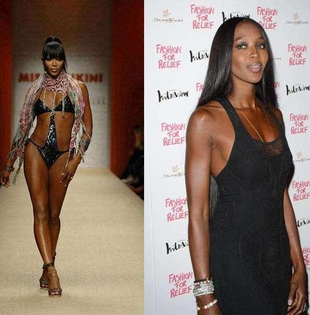 Naomi Campbell ieri e oggi