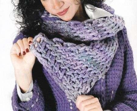 Schemi uncinetto sciarpa facile