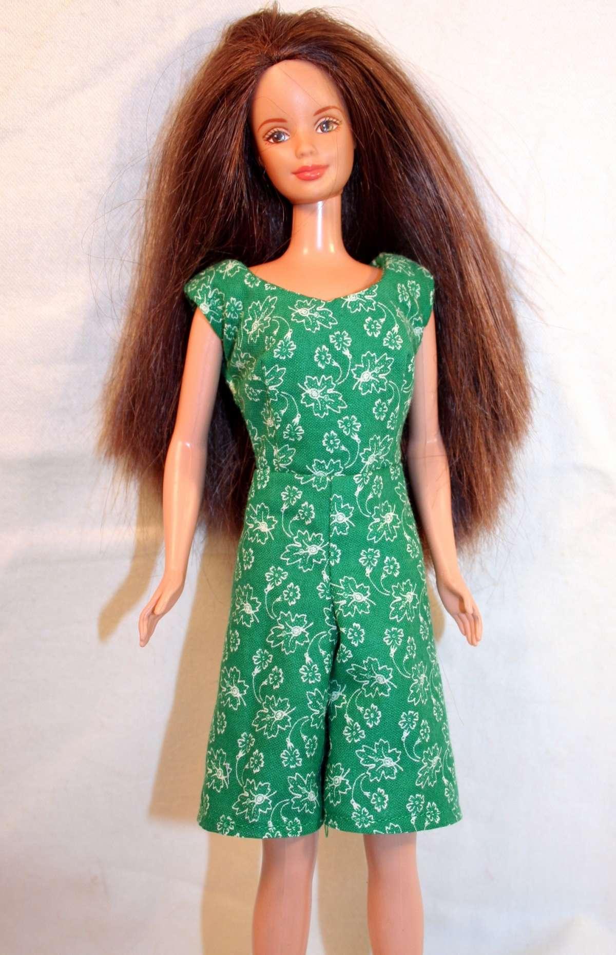 Vestito corto verde