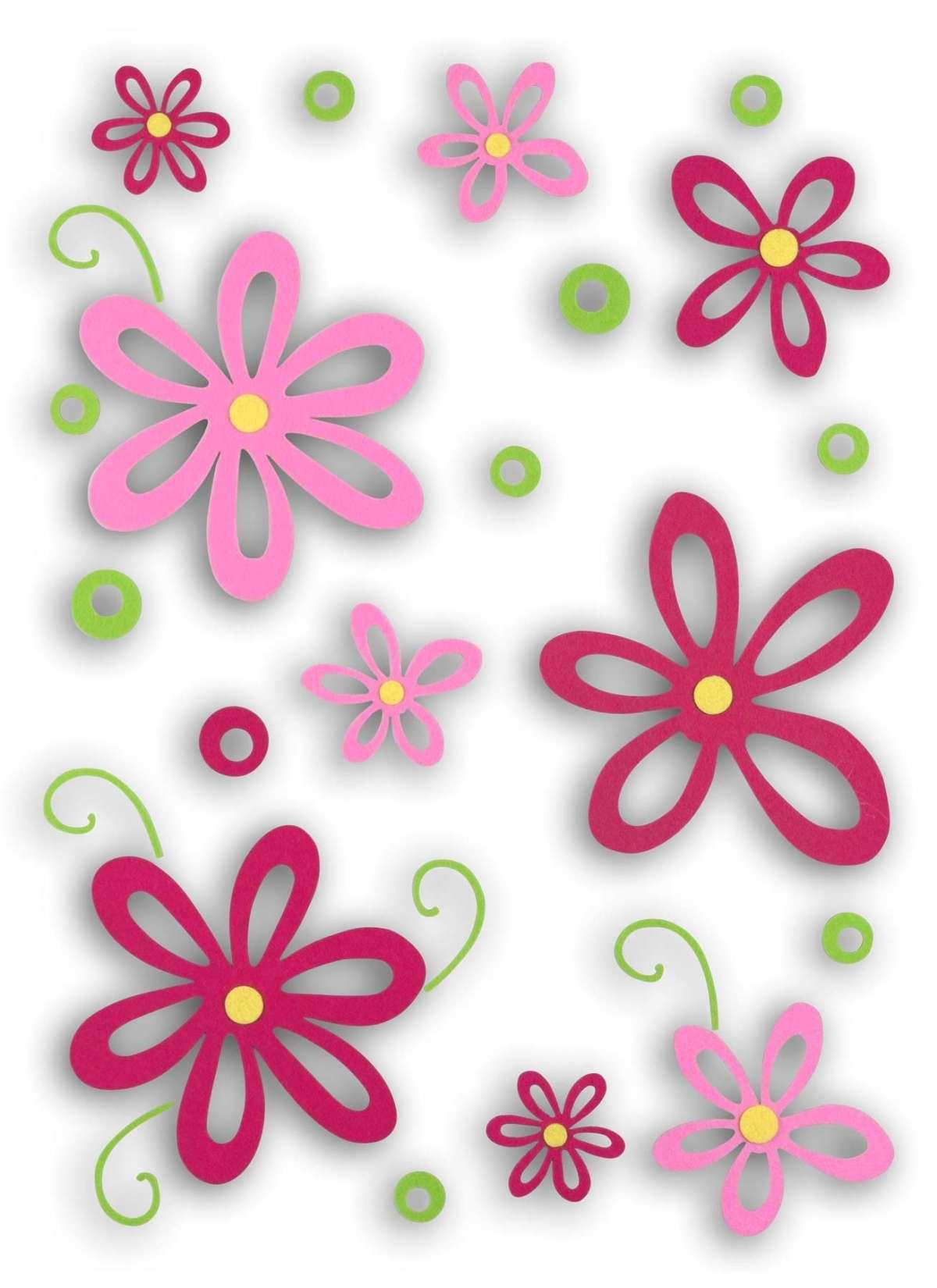 Adesivo murale con i fiori