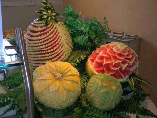 Angurie e meloni decorati