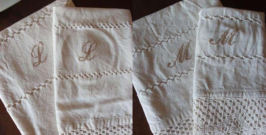 Asciugamani con le iniziali