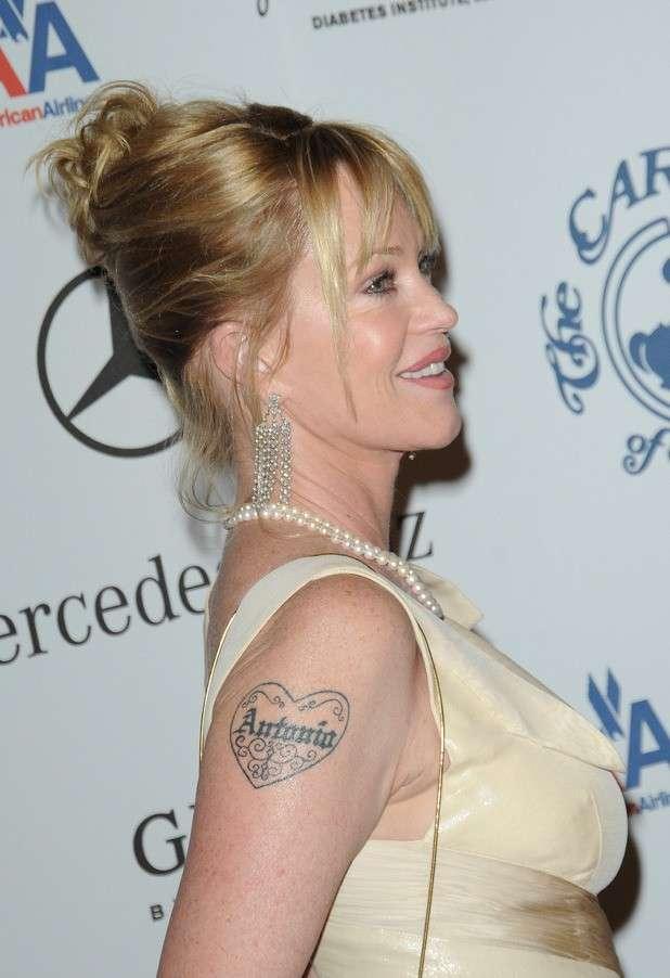 Tatuaggio con nome di Melanie Griffith