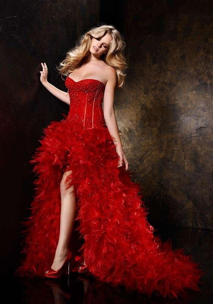 Vestito da sposa rosso chic
