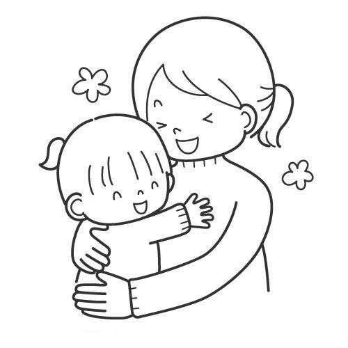 Abbraccio per la festa della mamma
