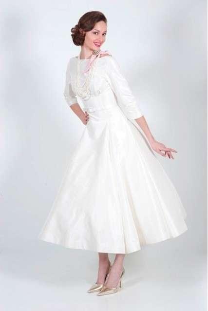 Abito da sposa anni 50 in bianco