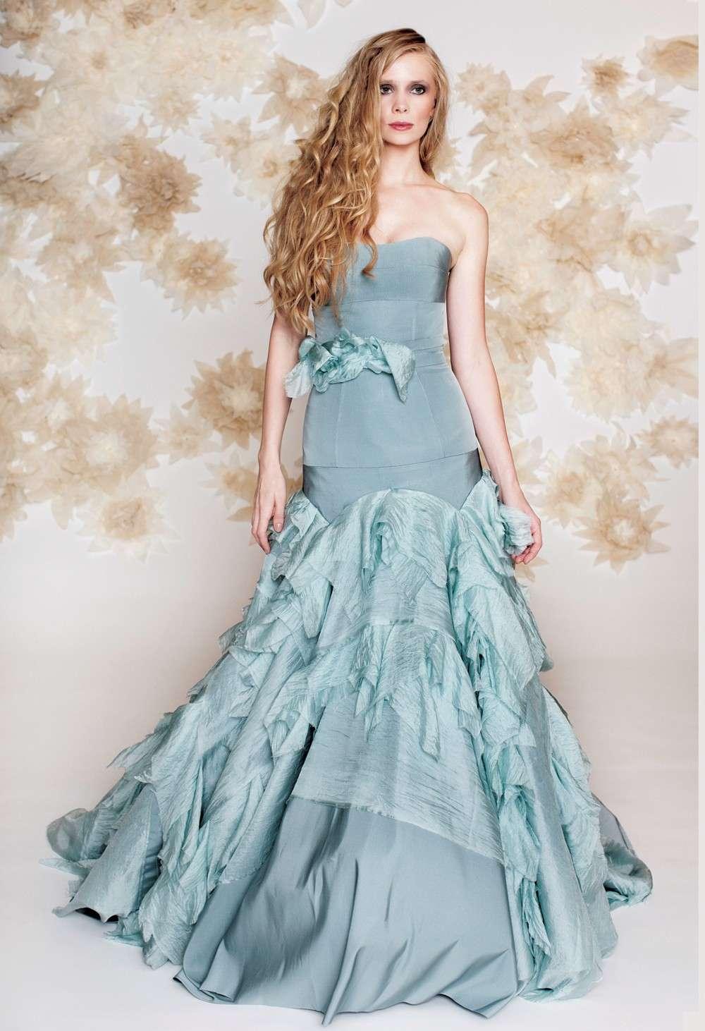 Abito da sposa blu chiaro