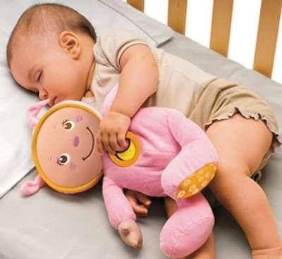 Buonanotte con bimbo e peluche