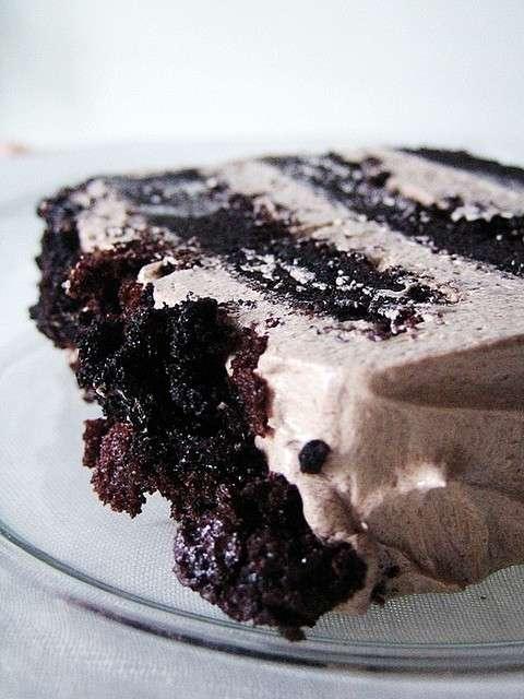 Fetta di Torta al cioccolato con ganache al caffe'