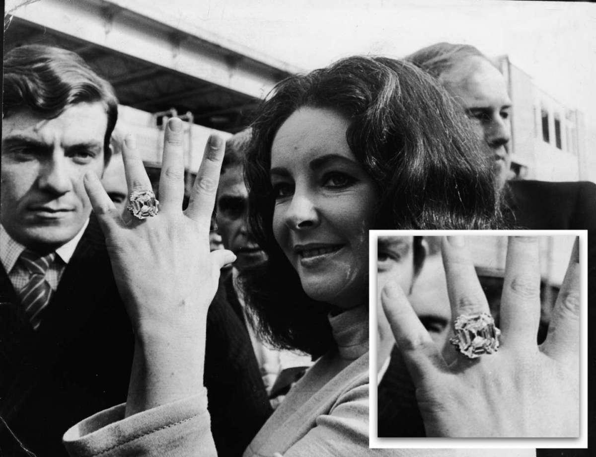 L'anello di fidanzamento di Elizabeth Taylor