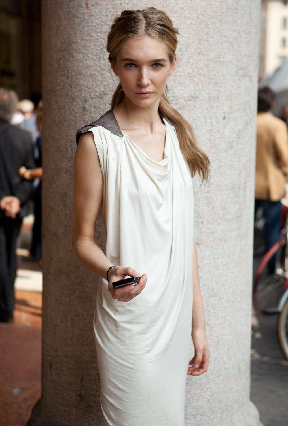 Modella magrissima a Milano