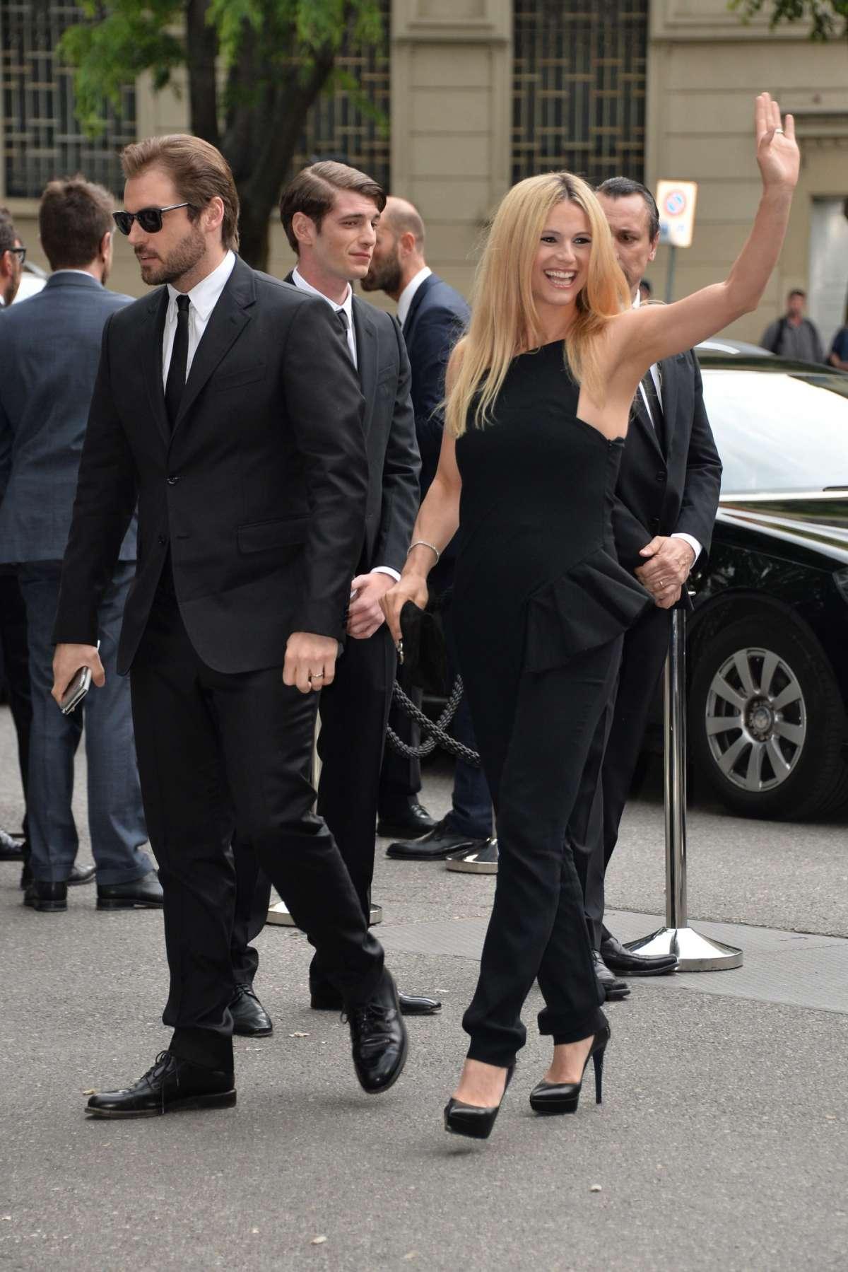 Tomaso Trussardi e la moglie a Milano