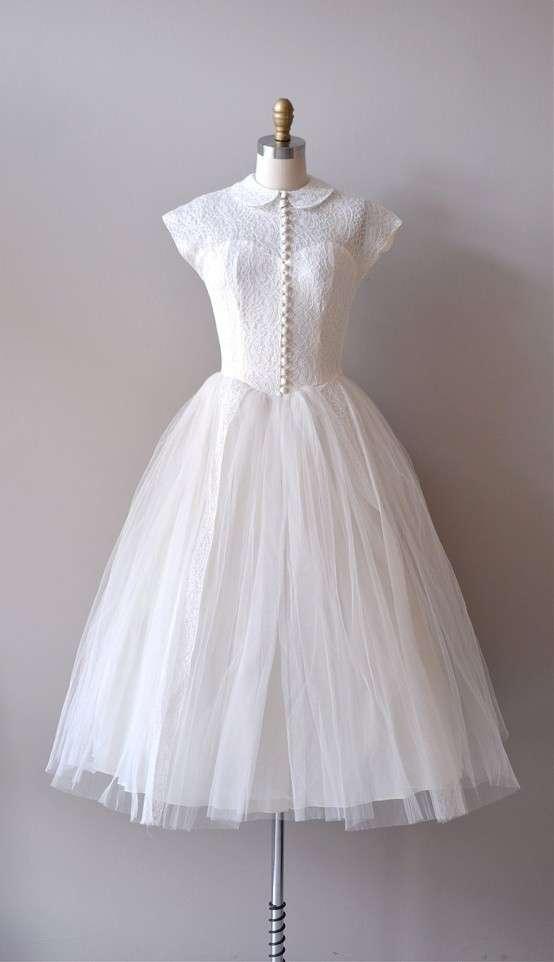 Vestito nuziale anni 50 stile bon ton