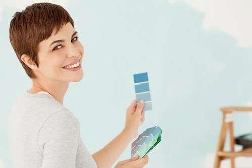 Azzurro polvere per il soggiorno