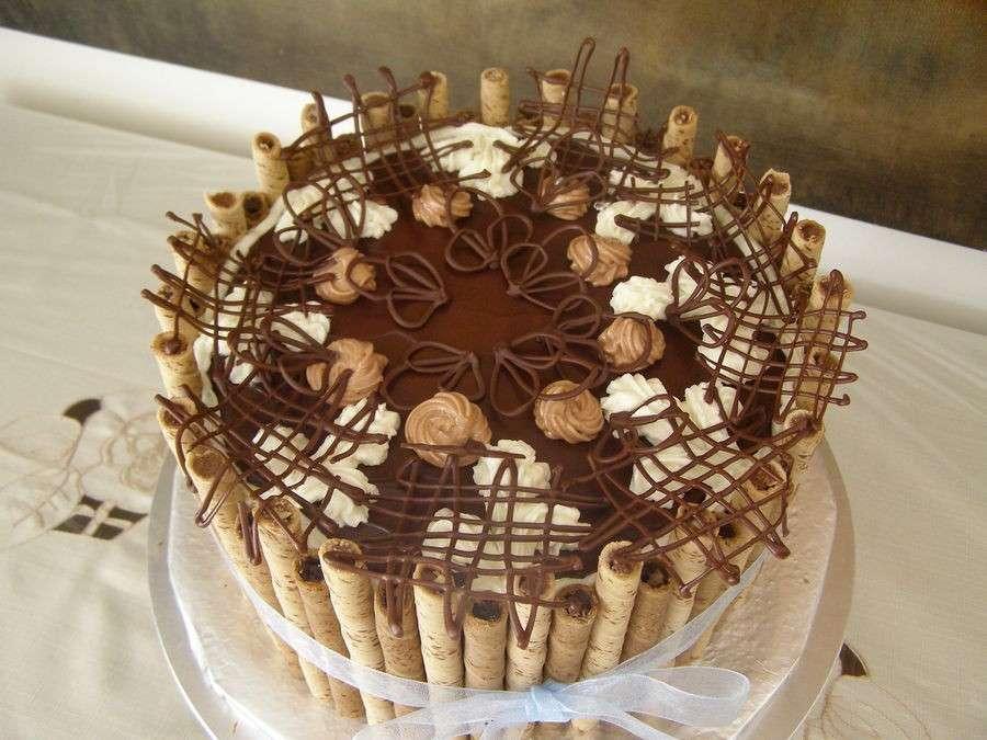 Decorazioni di torte al cioccolato