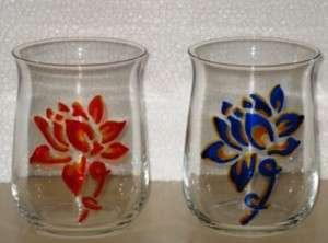 Bicchieri di vetro dipinti