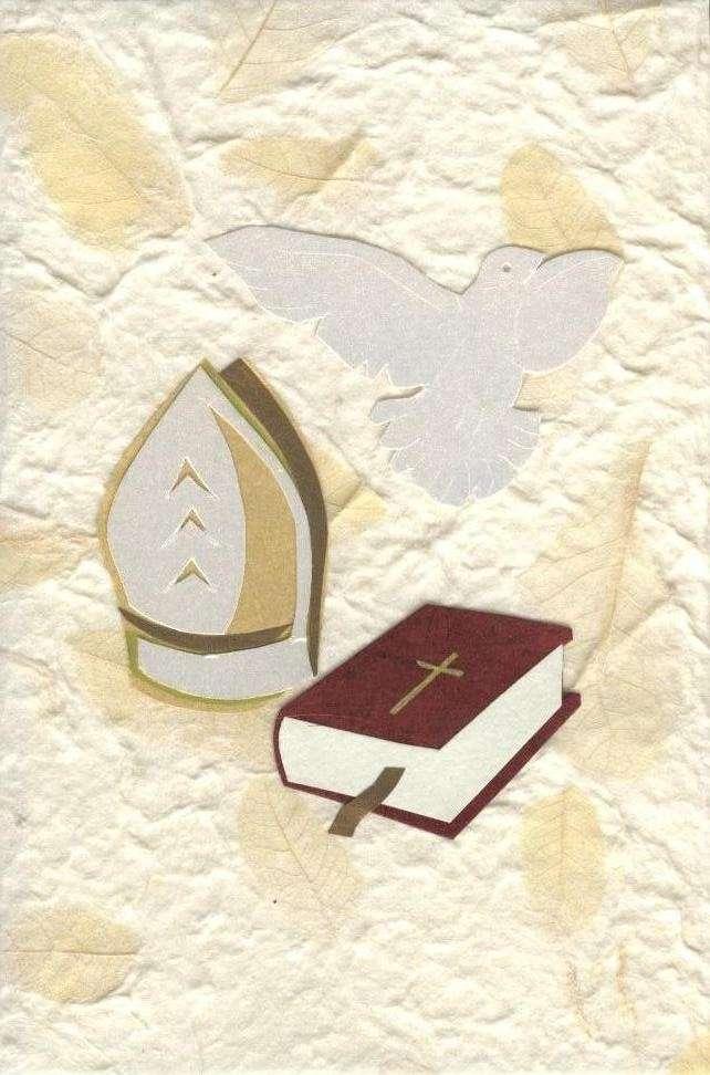 Biglietto per la cresima con la Bibbia
