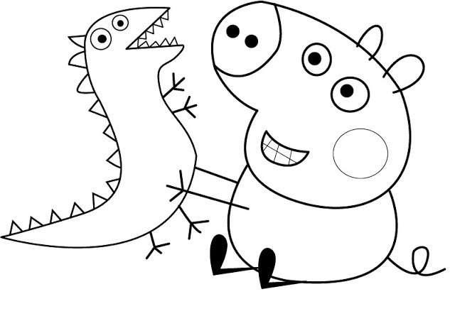 Disegno da colorare di George Pig