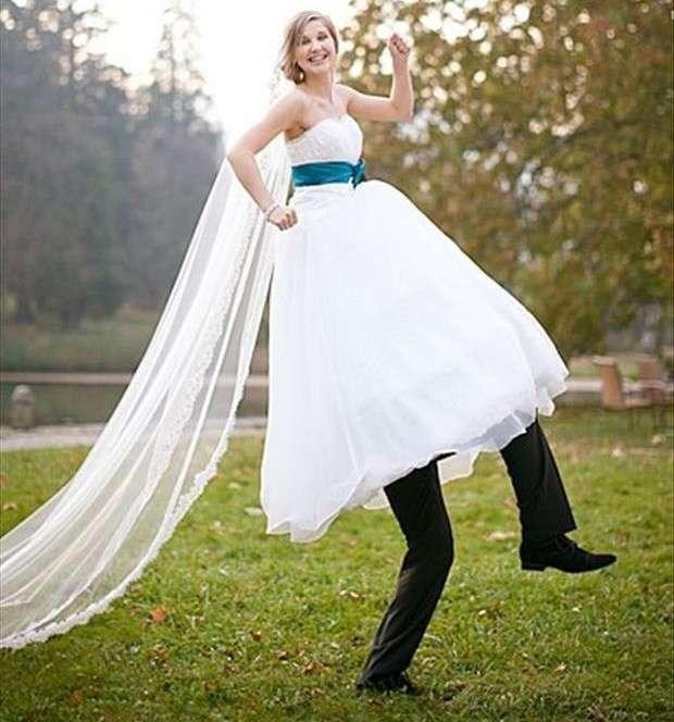 La sposa con gambe lunghe
