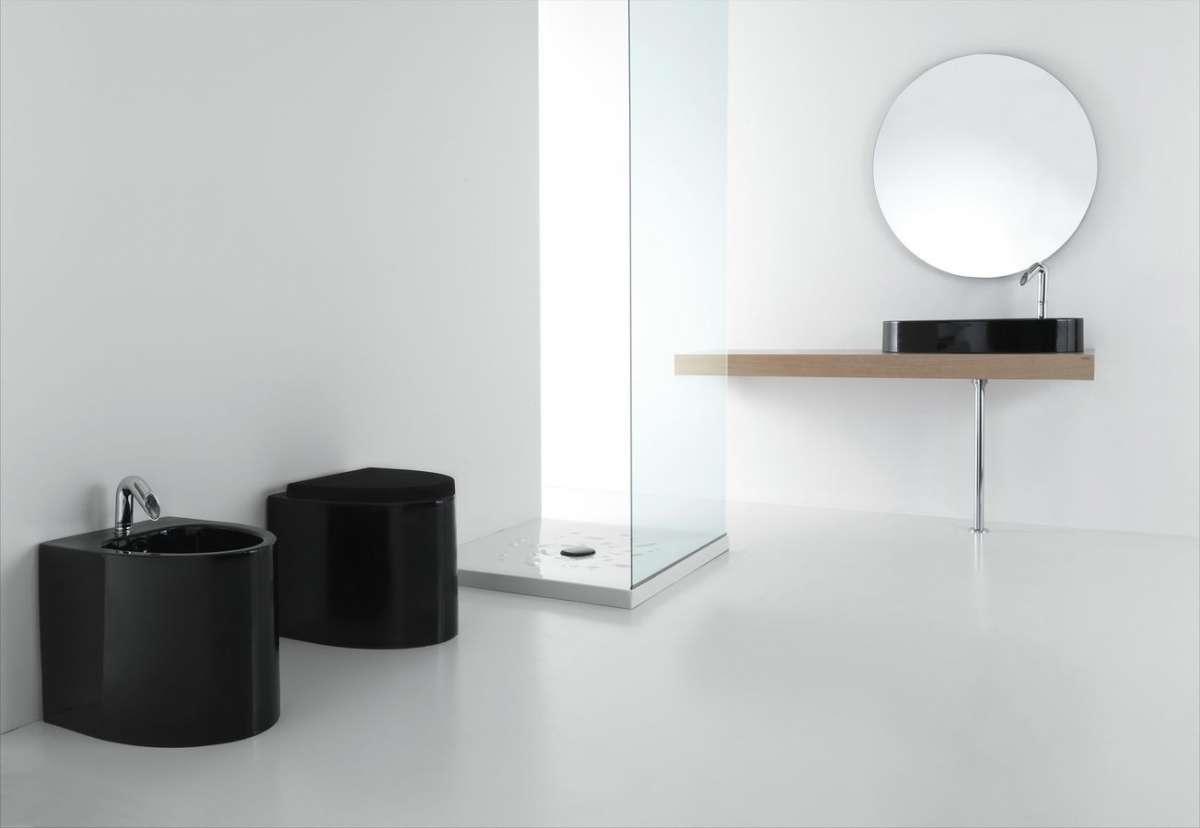 Nero e minimal per il design moderno