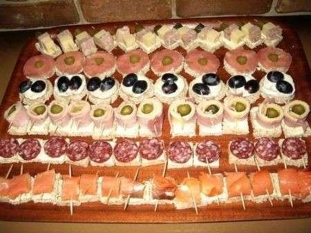 Tartine per buffet