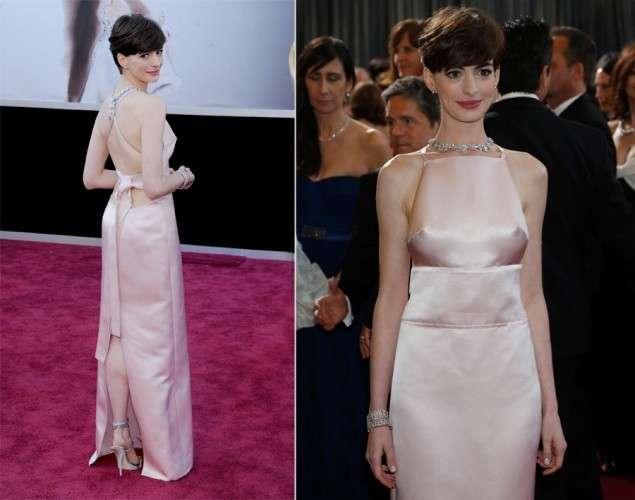 Anne Hathaway senza reggiseno