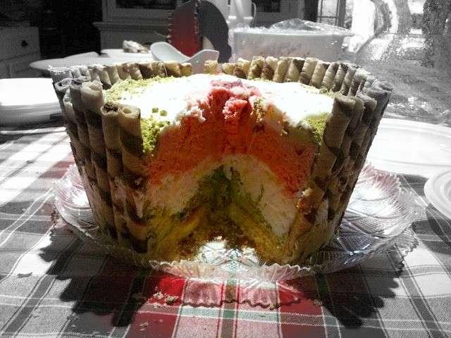 Torta gelato a tre strati