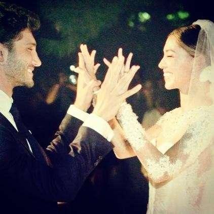 Belen e Stefano sposi felici