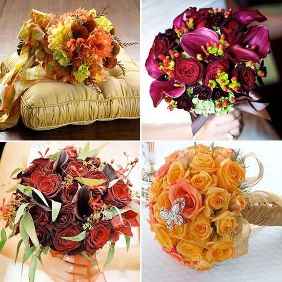 Bouquet chic per un matrimonio autunnale