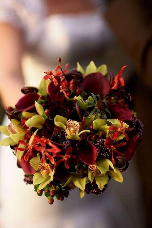 Bouquet con fiori grassi