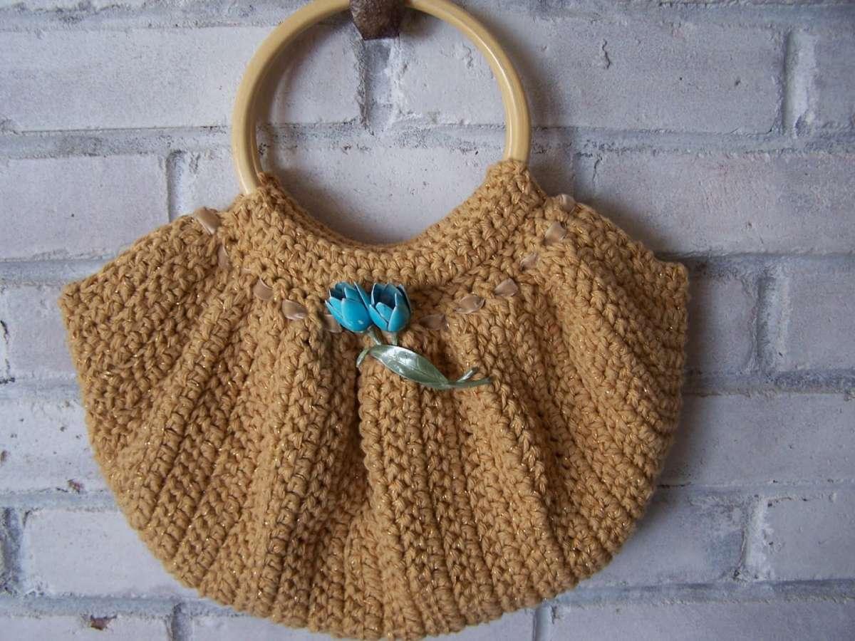 Borsa crochet color sabbia