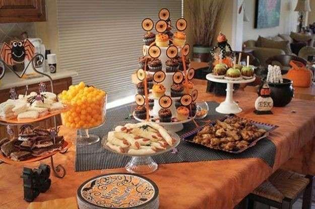 Buffet per la festa di Halloween