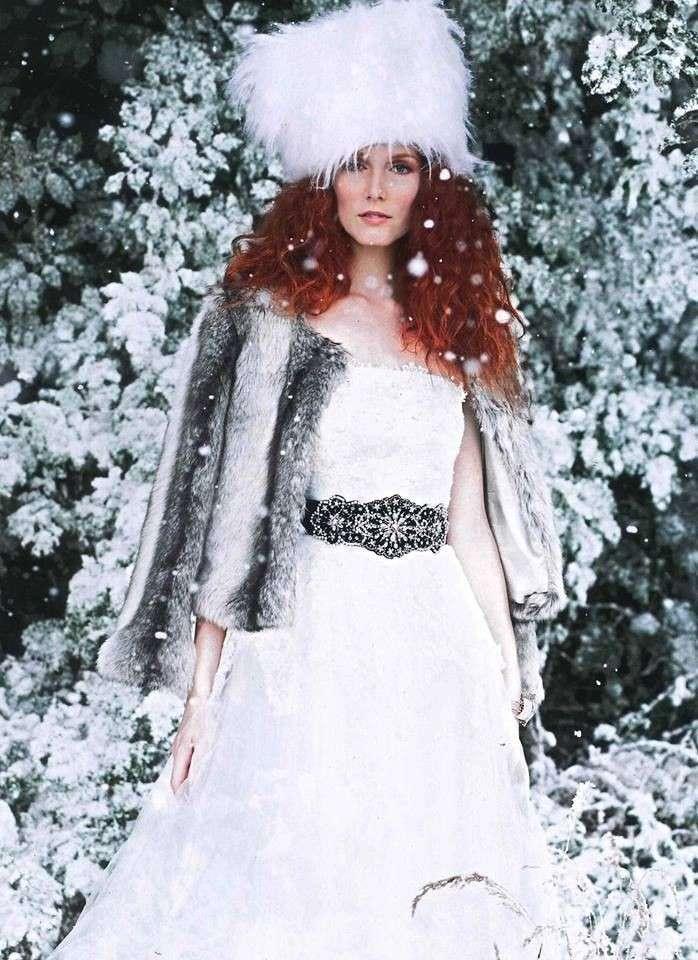 Cappotto di pelliccia da sposa