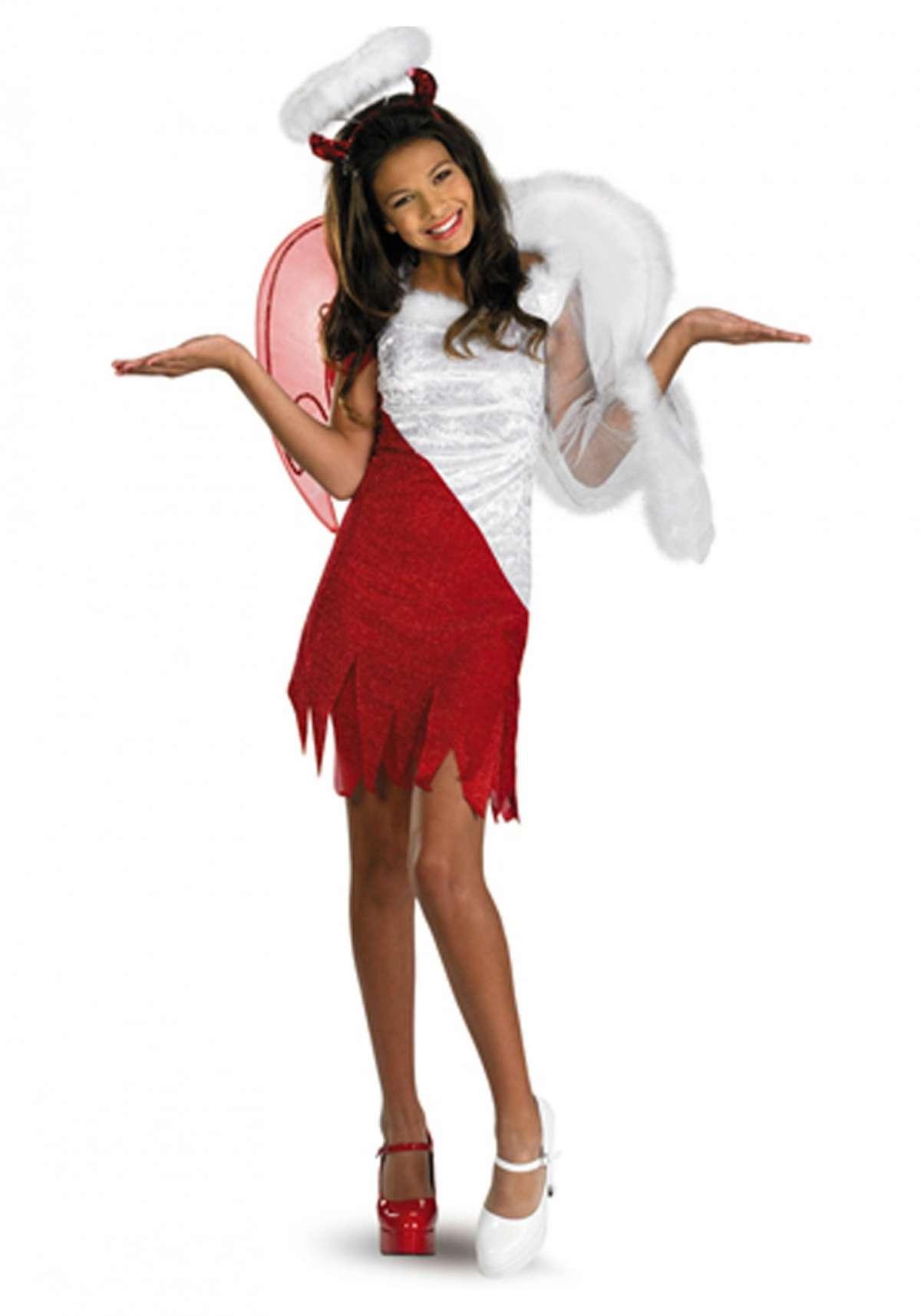 Costume angelo diavolo per Halloween