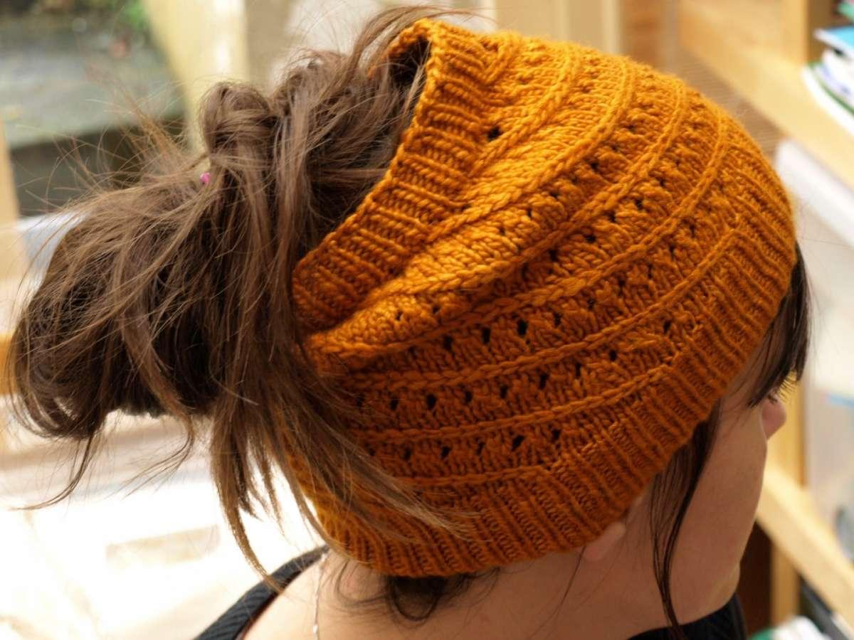 Fascia arancio crochet per capelli