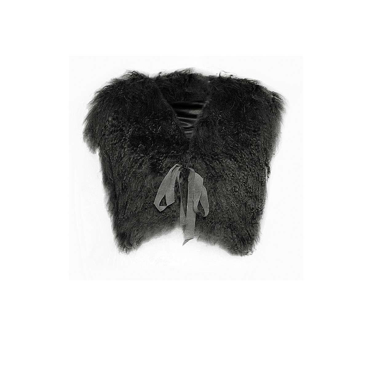 Gilet effetto pelliccia Fix Design nero